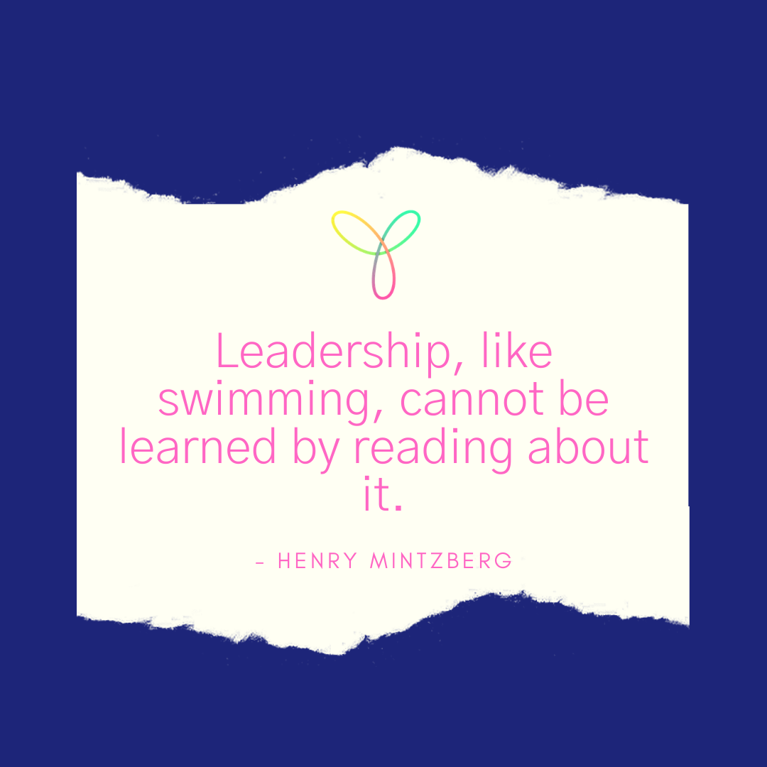 Quote: Leadership, like swimming, cannot be learned by reading about it.